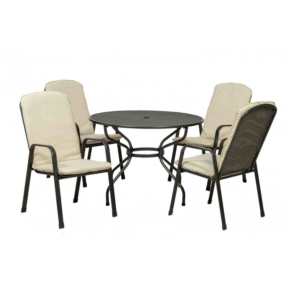 Lot 18386 - V Brand New Palma 105 Set - Table & Four Chairs - Highly Durable Thermosint Finish - Palma