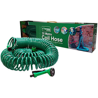 Lot 18414 - V Brand New 30 Metre Coil Hose With Nozzle And Tap Connectors Etc