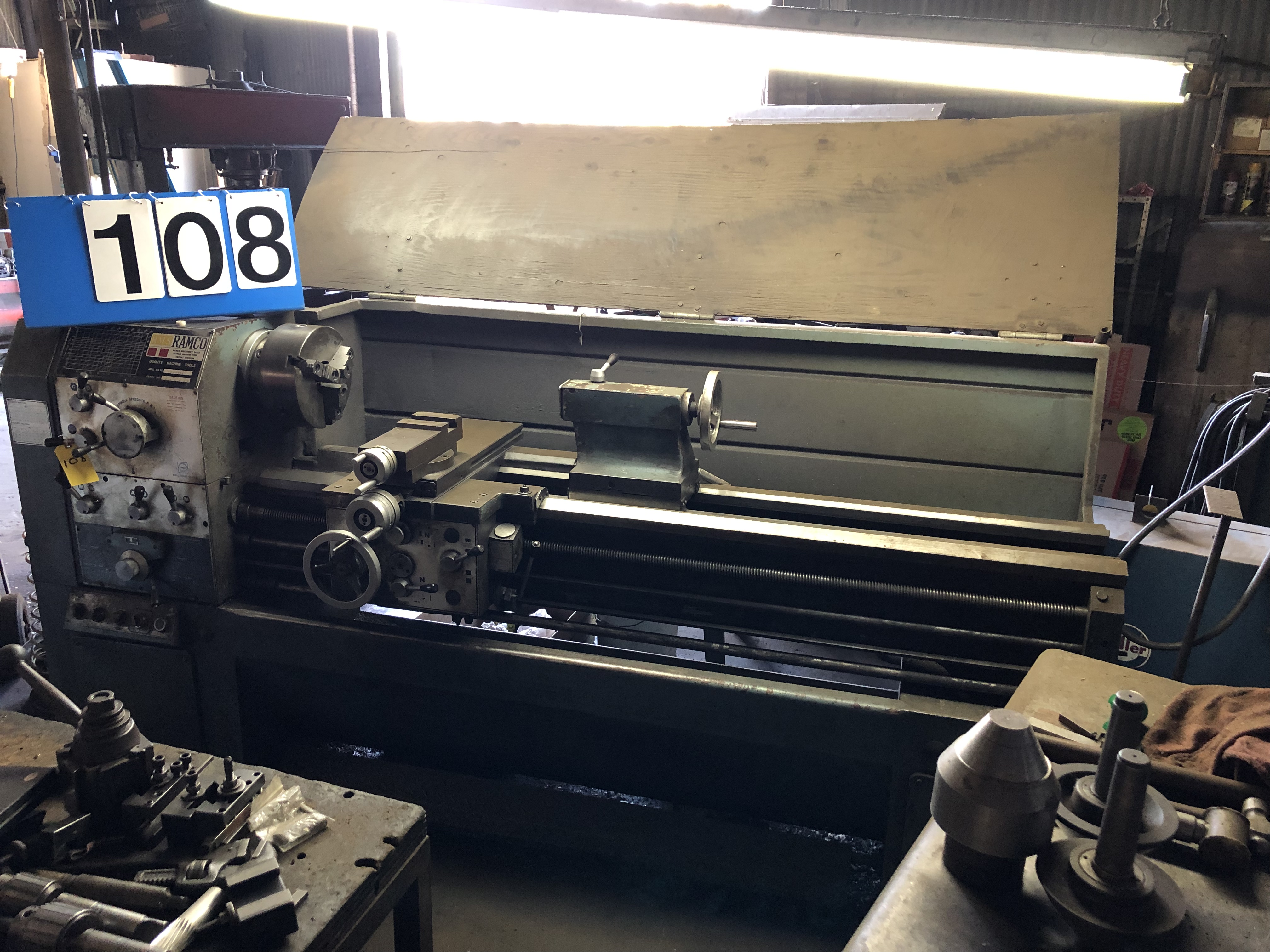 """Lot 108 - Ramco Mdl: TK 430 XL Lathe, 17"""" x 60"""", S/N: 71072, 10"""" 3-Jaw, Quick Change Tool Post w/ 8 Holders,"""