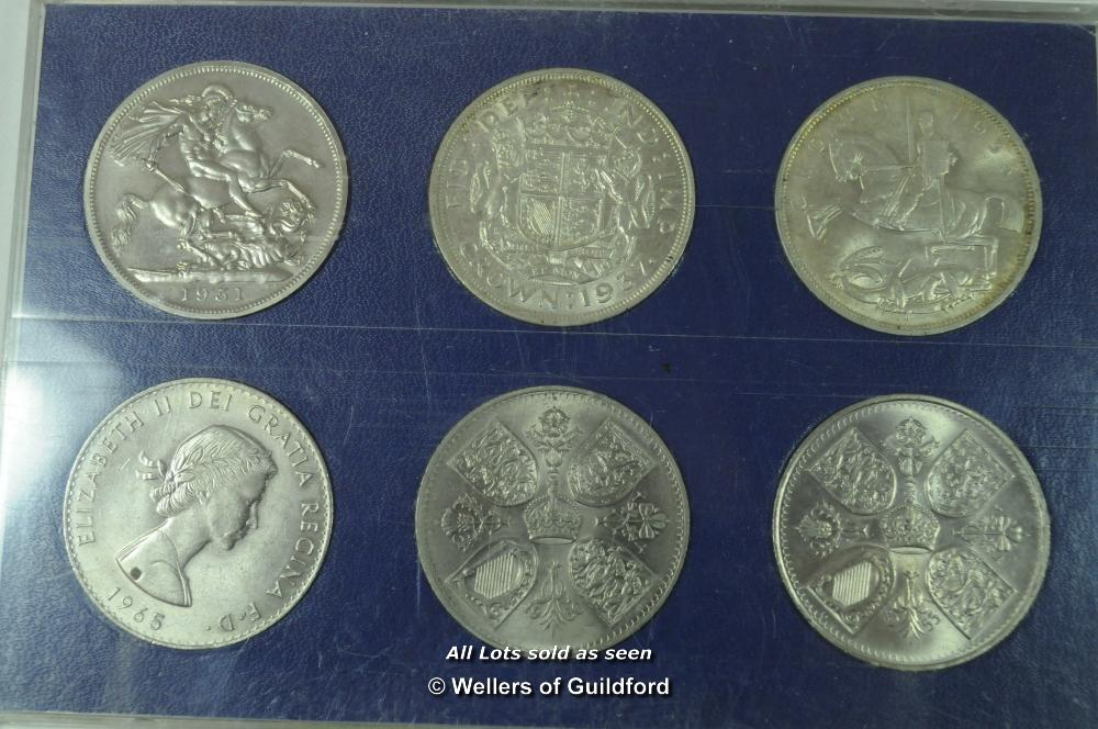 Lot 7073 - Great Britain, modern crowns, (12), 1935-1981, in display cases; proof crown, 1977; proof