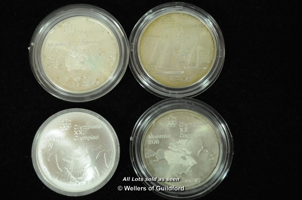 Lot 7072 - Canada, Elizabeth II, Olympic silver 5 dollars 1973 (3), 1976; silver 50 cents (20), 1961-1966, some