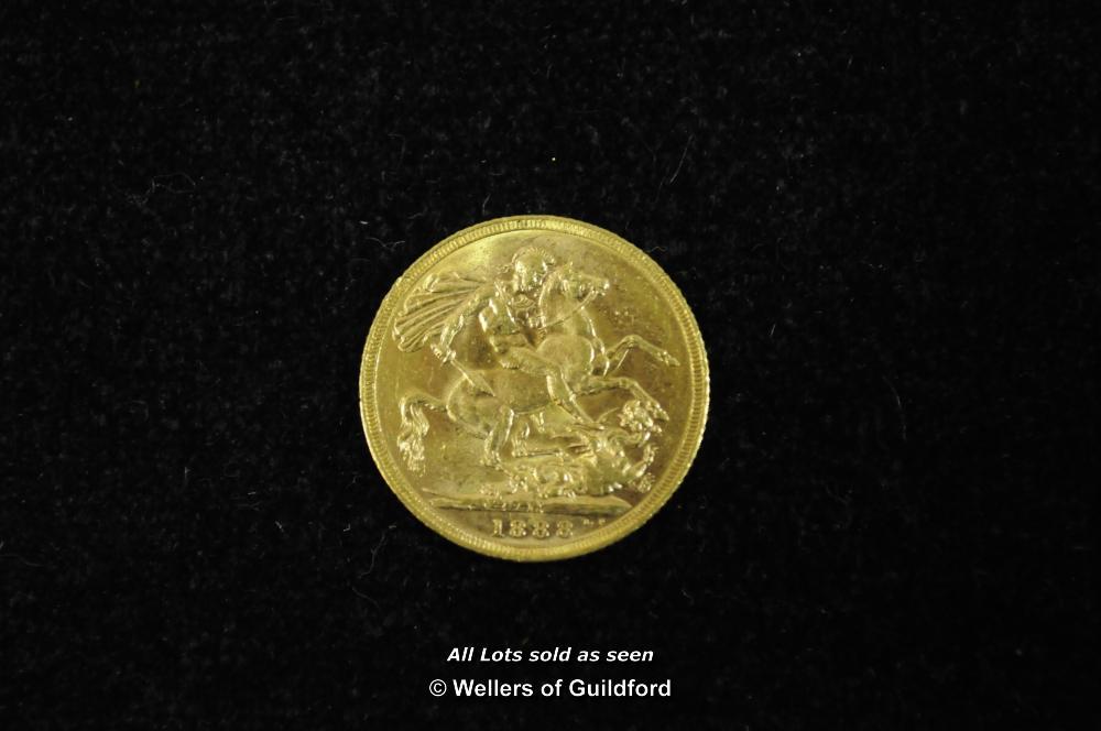 Lot 7067 - Victoria, gold sovereign, 1888 M, Melbourne Mint, Jubilee bust left, rev.St. George (S.3867B),