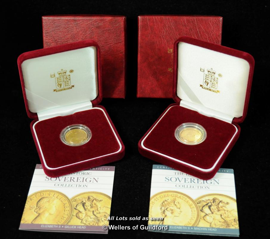 Lot 7070 - Elizabeth II, gold sovereigns (2), 1964, Gillick head right; 1978 Machin head right, revs. St George