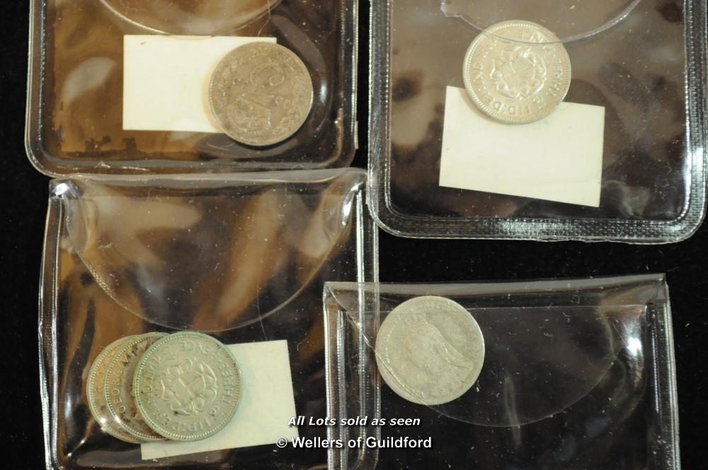 Lot 7080 - Silver threepences and other minor coins, 20th Century, a small collection, varied state.