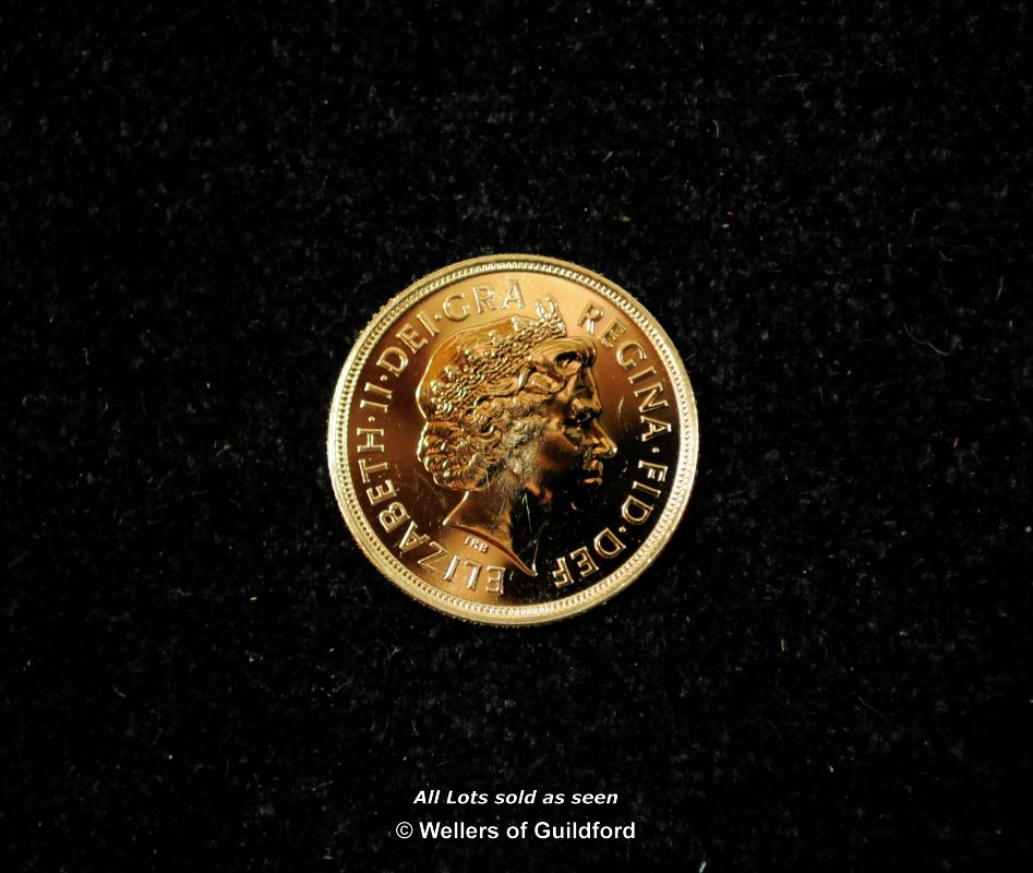 Lot 7071 - Elizabeth II, proof gold sovereigns (3), 2002, 2005, 2008, Rank-Broadly bust right, revs, shield (