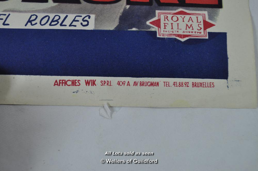 """Lot 7195 - Movie poster - """"Cela S'Appelle L'Aurore"""" (This is the Dawn) 1956, Belgian poster, 14 x 22 inches,"""