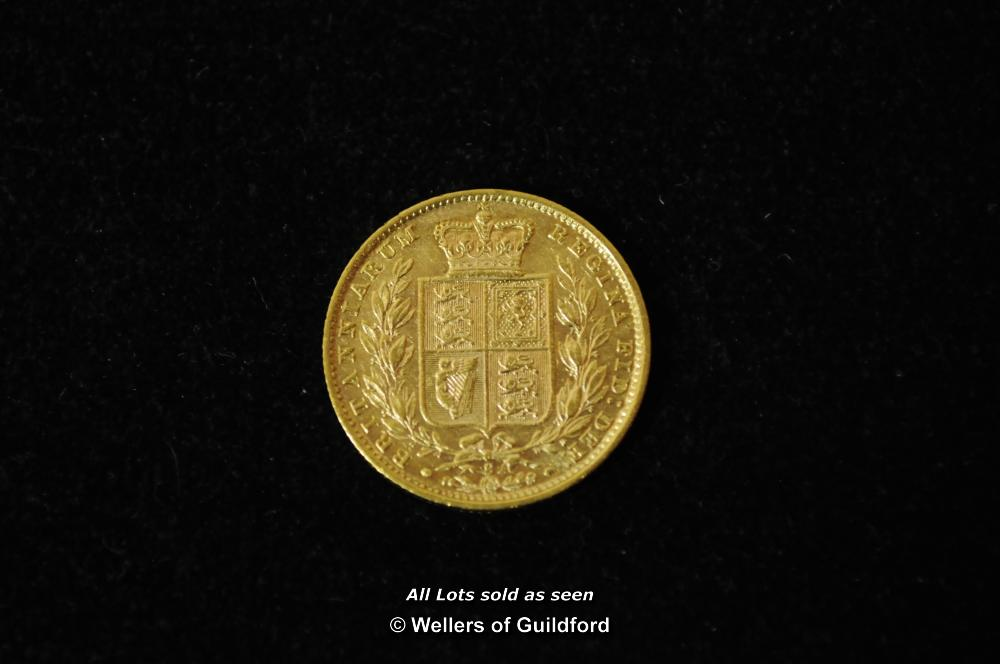 Lot 7065 - Victoria, gold sovereign, 1878 S, Sydney Mint, young head left, rev.shield (s.3855), very fine.