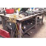 Steel Fabricated Welders Table (Contents not included)