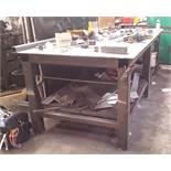 Steel Fabricated Welders Table (3 x Grinders not included)