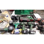 6 x Various Hitachi Cordless Power Tools