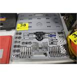TAP AND DIE SET, NATIONAL COARSE AND FINE THREADING, WITH CASE