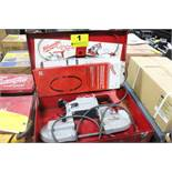 MILWAUKEE CAT. NO. 6236 HEAVY DUTY PORTABLE BANDSAW WITH BLADES AND CARRYING CASE
