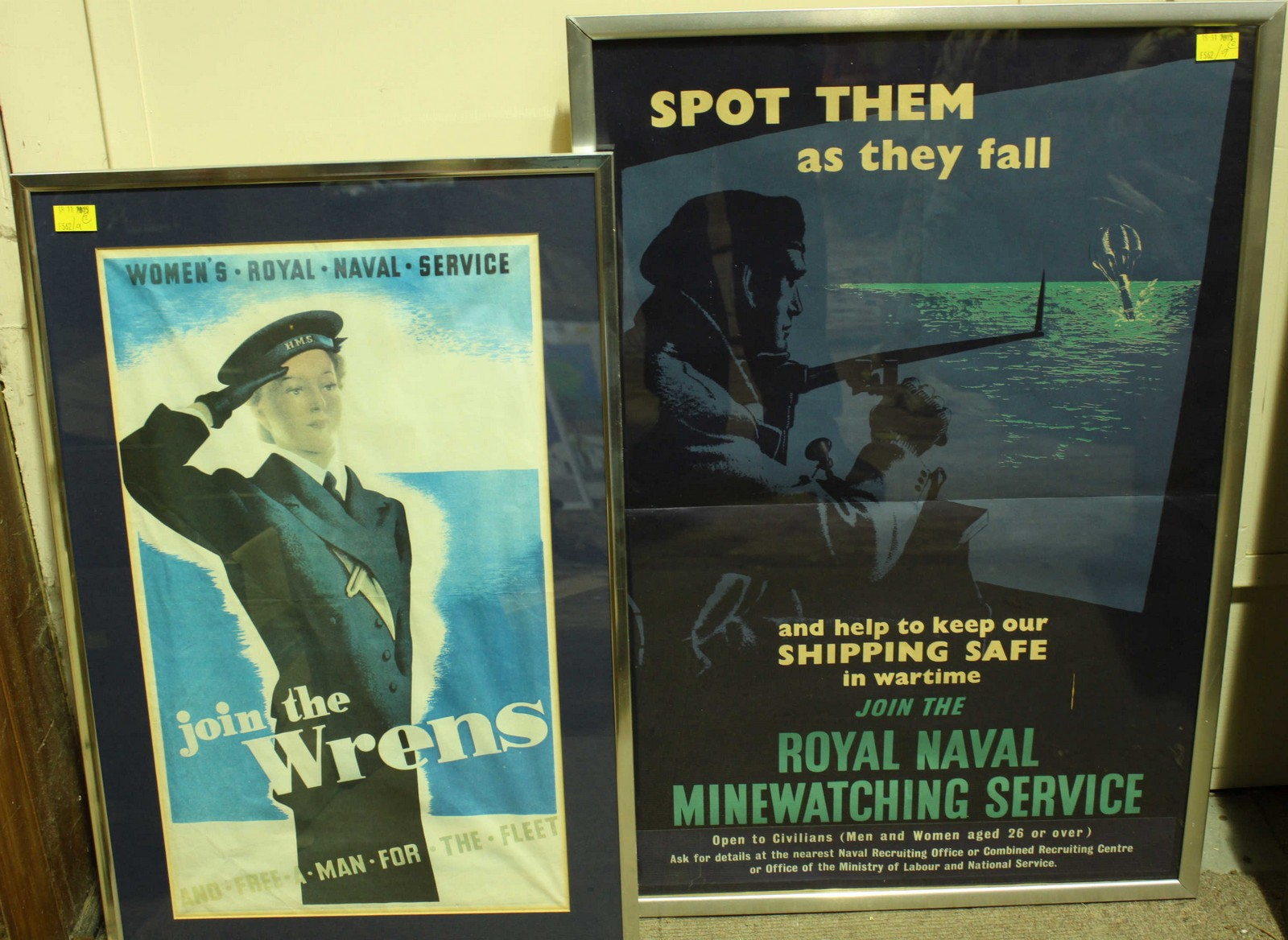 Two original Royal Navy recruitment posters,
