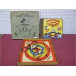 A Boxed Pre-War Chad Valley 'Mickey Mouse' Ring Set, plus a HMV 'Mickey Mouse' Silly Symphonies Four