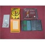Four Early Mid XX Century Games, including 'Trencho' with board, Spin Golf, boxed, 'Skee-Ball' by