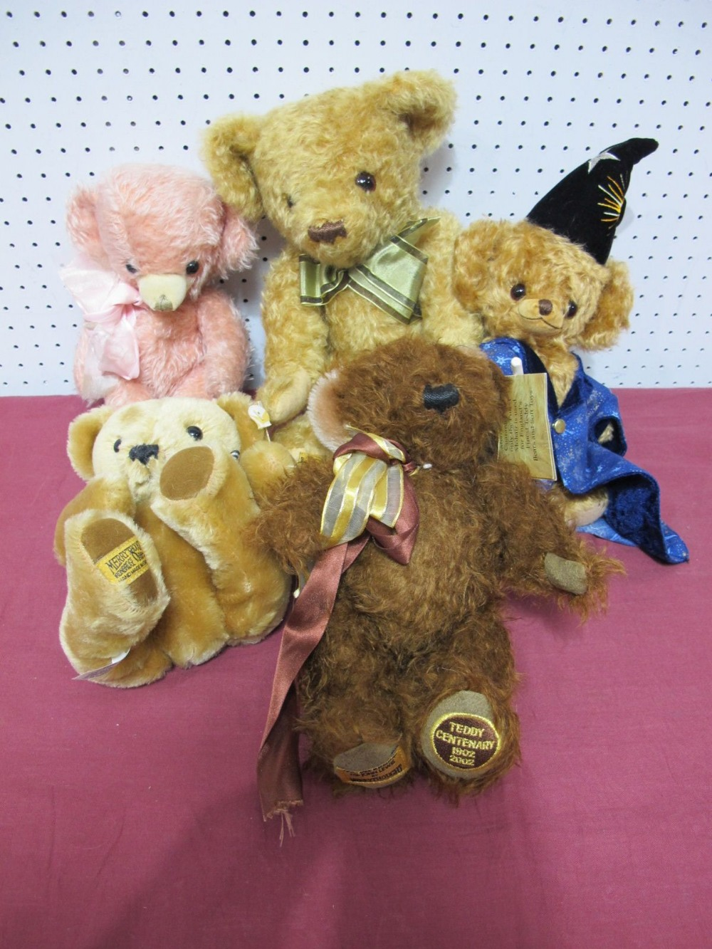 Lot 5 - Five Modern Merrythought Teddy Bears, including Cheeky Hocus Pocus, No. 264 of 500.