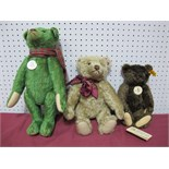 Three Modern Steiff Teddy Bears, including 1920 Classic Teddy Bear, 1908 Replica Teddy Bear, 2012