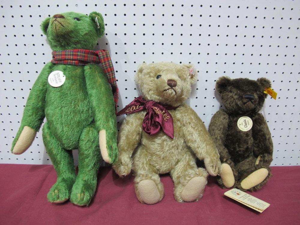 Lot 11 - Three Modern Steiff Teddy Bears, including 1920 Classic Teddy Bear, 1908 Replica Teddy Bear, 2012