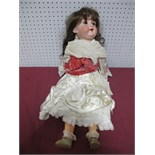 An Early XX Century Bisque Headed Doll by Armand Marseilles of Germany, head stamped 390 A8 M. Fixed