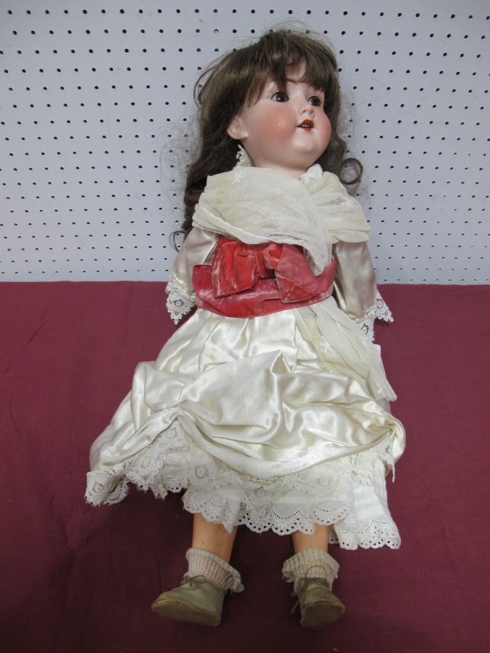 Lot 25 - An Early XX Century Bisque Headed Doll by Armand Marseilles of Germany, head stamped 390 A8 M. Fixed
