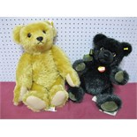 Two Modern Steiff Teddy Bears, Petsy Bear and Classic 1909 Bear, (jointed).