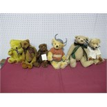 Six Modern Teddy Bears, by Cotswold Bears, Deans, Country Life Bears and other including Country