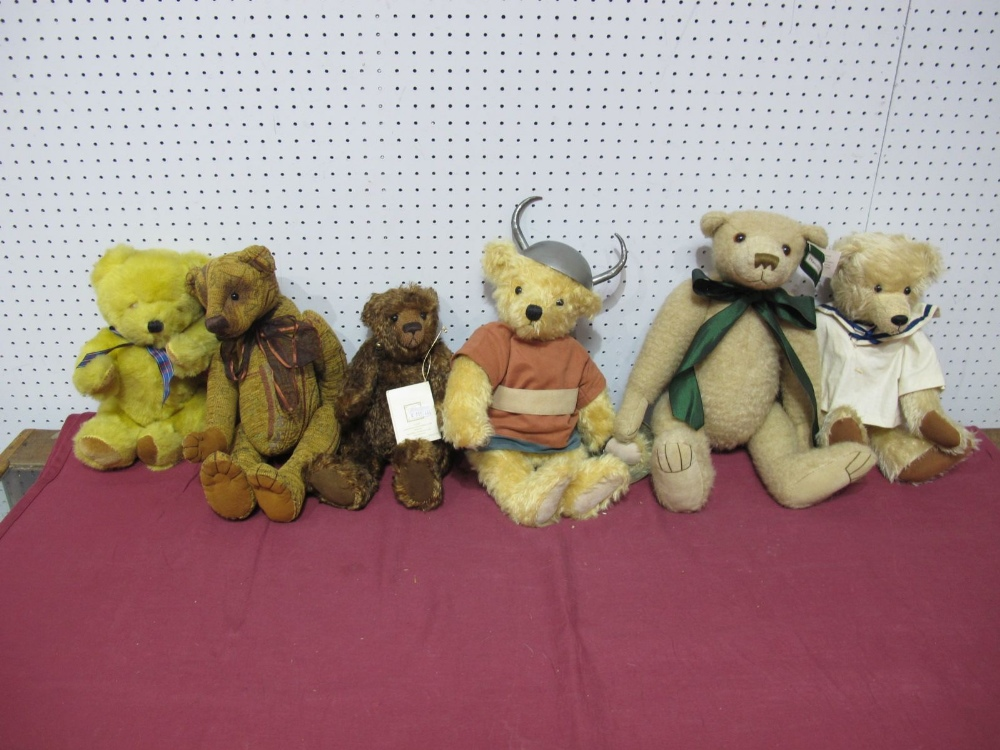 Lot 45 - Six Modern Teddy Bears, by Cotswold Bears, Deans, Country Life Bears and other including Country
