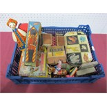 A Quantity of Mid XX Century Tin Plate and Nursery Toys, including Brio (Sweden) wooden soldier