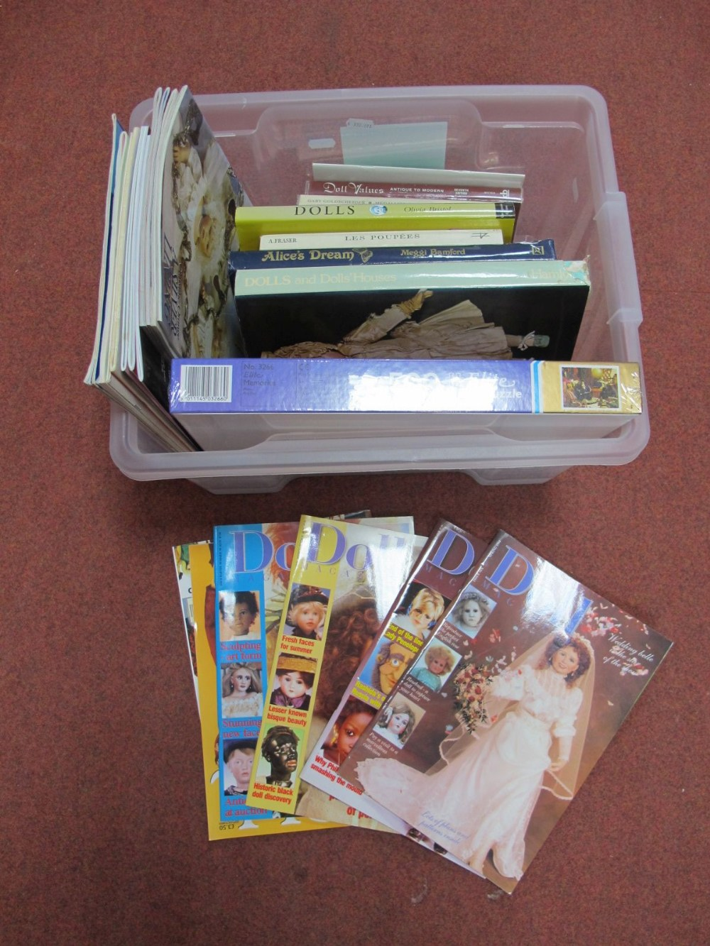 Lot 6 - A Quantity of Books on Dolls, including a modern doll related jigsaw, unopened.
