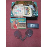 A Quantity of Early XX Century and Later Children's Games and Nursery Items, including table