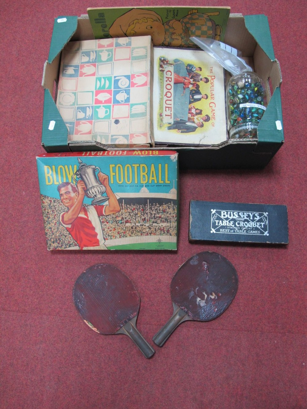 Lot 39 - A Quantity of Early XX Century and Later Children's Games and Nursery Items, including table