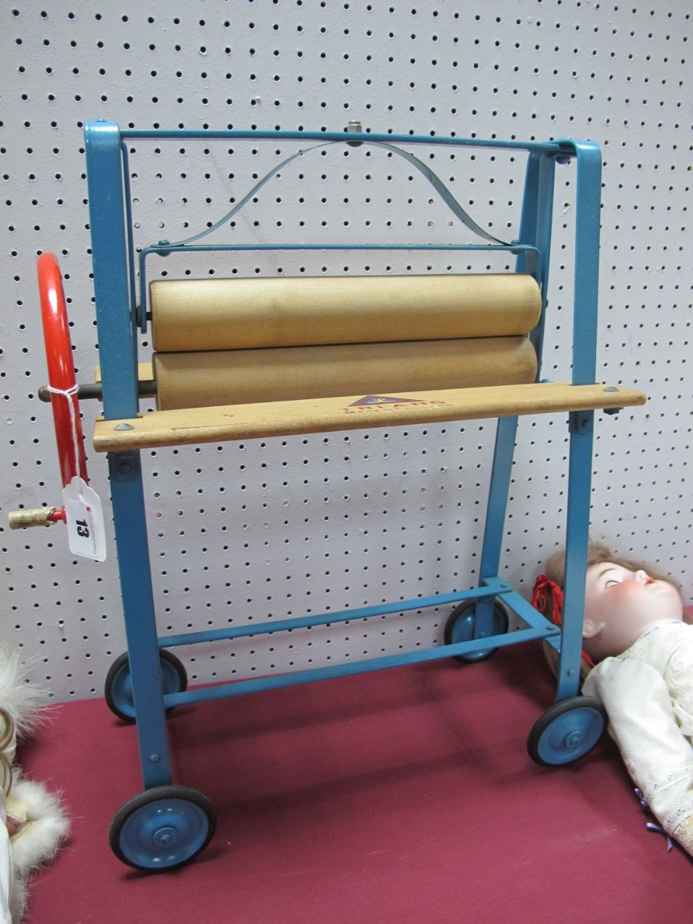 Lot 13 - A Mid XX Century Childs Mangle, on wheels, by Tri-ang.