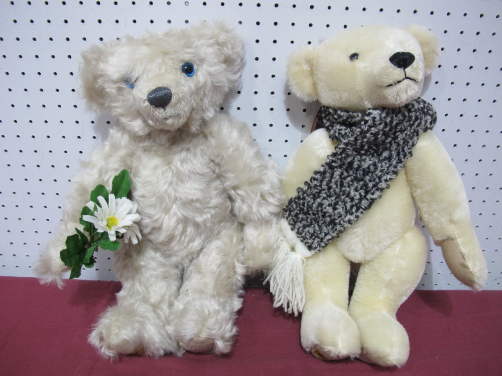 "Lot 14 - Two Modern Merrythought Teddy Bears, Great Ormond Street ""Visiting Day"" Bear, 69/9500, Winter"