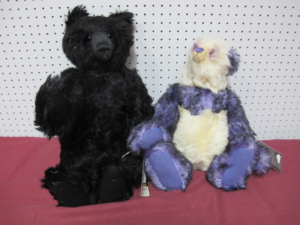 Lot 27 - Two Modern Teddy Bears by The Cotswold Bear Co, Shanghai, No. 35 of 100, Masquerade, No. 14 of 100.
