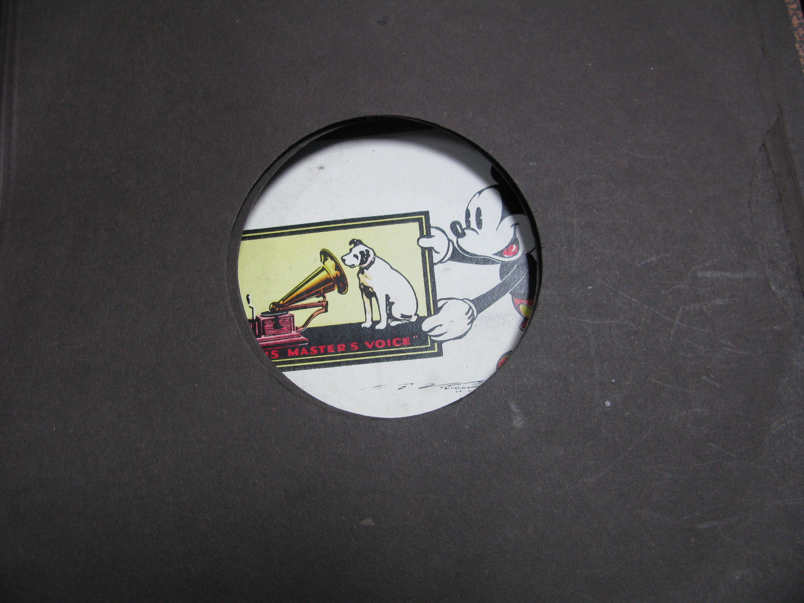 Lot 26 - A Boxed Pre-War Chad Valley 'Mickey Mouse' Ring Set, plus a HMV 'Mickey Mouse' Silly Symphonies Four