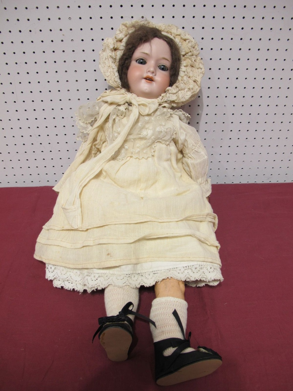 Lot 17 - An Early XX Century Bisque Headed Doll by Armand Marseilles of Germany, head stamped 390/7½M. Sleepy