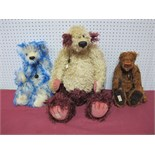 Three Modern Teddy Bears by Deans Rag Book Company, including Atlantis No. 61 of 1000, Karina No.