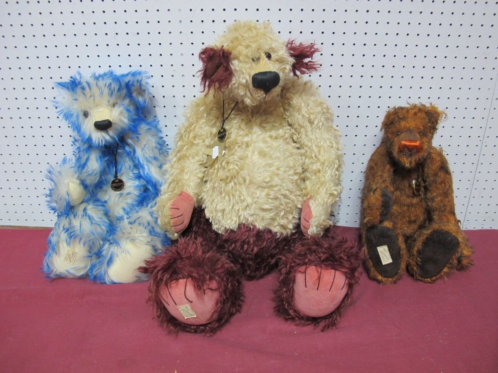 Lot 43 - Three Modern Teddy Bears by Deans Rag Book Company, including Atlantis No. 61 of 1000, Karina No.
