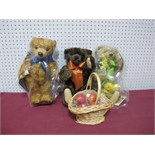 Three Modern Teddy Bears by Steiff (Danbury Mint), Merrythought (Danbury Mint), including