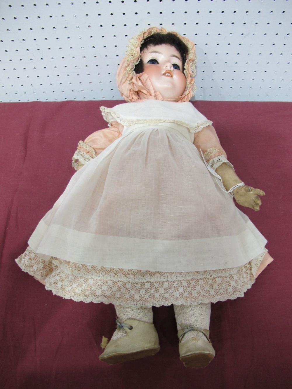 Lot 20 - An Early XX Century Bisque Headed Doll By Armand Marseilles of Germany, head stamped 390N, DRGM