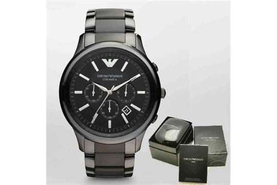 outlet online official store amazing selection BRAND NEW GENTS EMPORIO ARMANI AR1451, BLACK CERAMICA WATCH ...