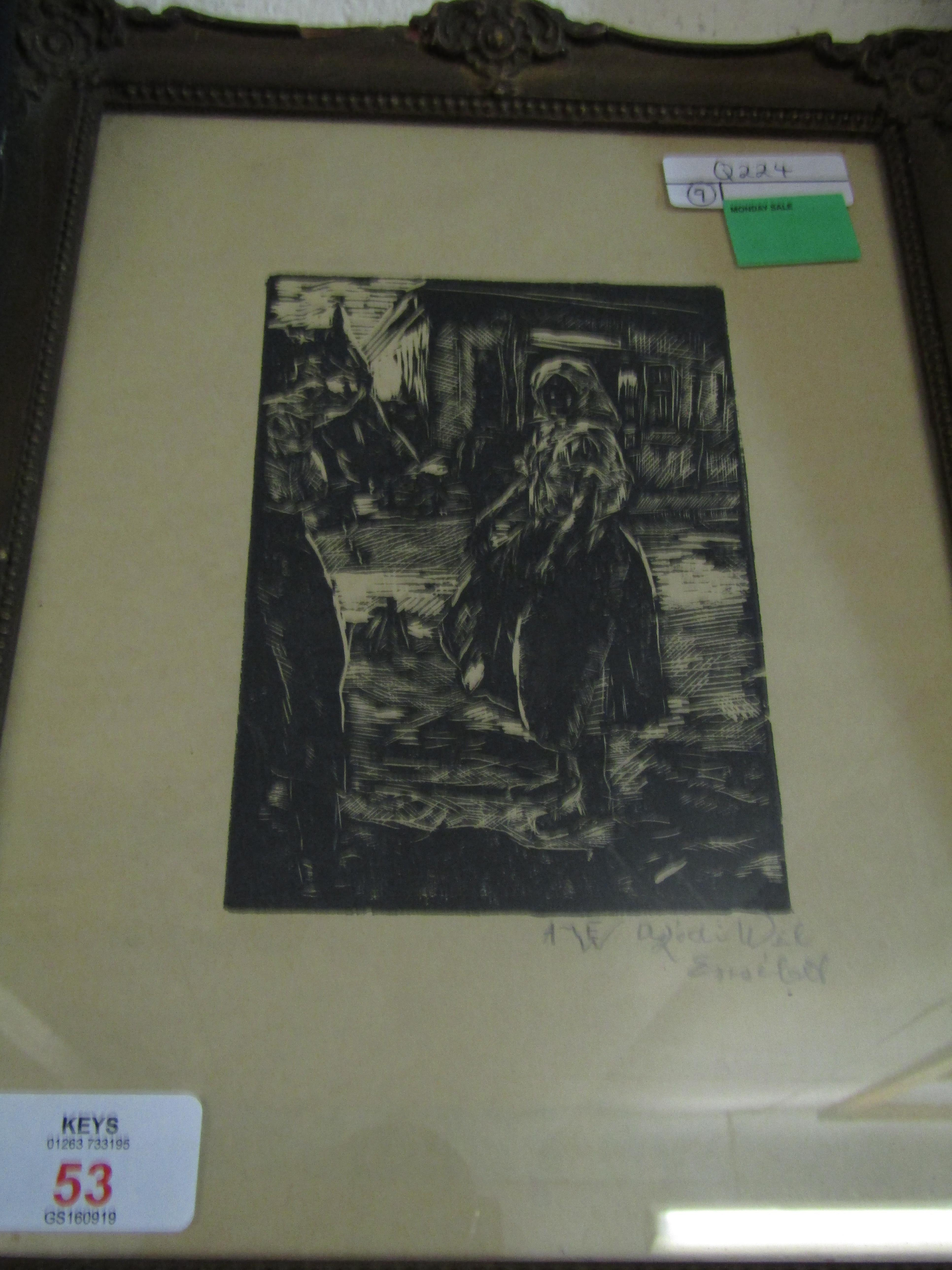 Lot 53 - SIGNED ETCHING OF A LADY