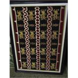 GOOD QUALITY FRAMED EMBROIDERED PANEL