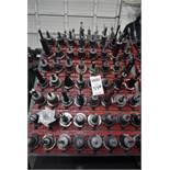 (56) Cat 50 Tool Holders w/ Rack