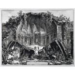 Giovanni Battista Piranesi. Avanzi Del Tempio del Dio Canopo nella Villa Adriana in Tivoli.