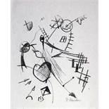 Gustav Seitz. Porträt B. Brecht. Lithographie. 1967. 30,5 : 26,0 cm (51,0 . 40,0 cm). Signiert.