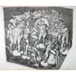 Michelangelo - Giorgio Mantovano Ghisi. Il Giudizio Universale. Zehn Kupferstiche nach Michelangelos