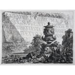 Giovanni Battista Piranesi. Vedute di Roma. Daraus sechs Radierungen. 1748-1768/86? Alle aus der
