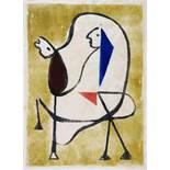 Werner Gilles. Der Reiter. Farblithographie. 1950. 30,0 : 22,0 cm (32,7 : 25,0 cm). Auf