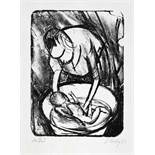 Otto Herbig. Drei Lithographien. 1921-1923. 41 : 31 cm (Blattgröße). Signiert und datiert. Je eins